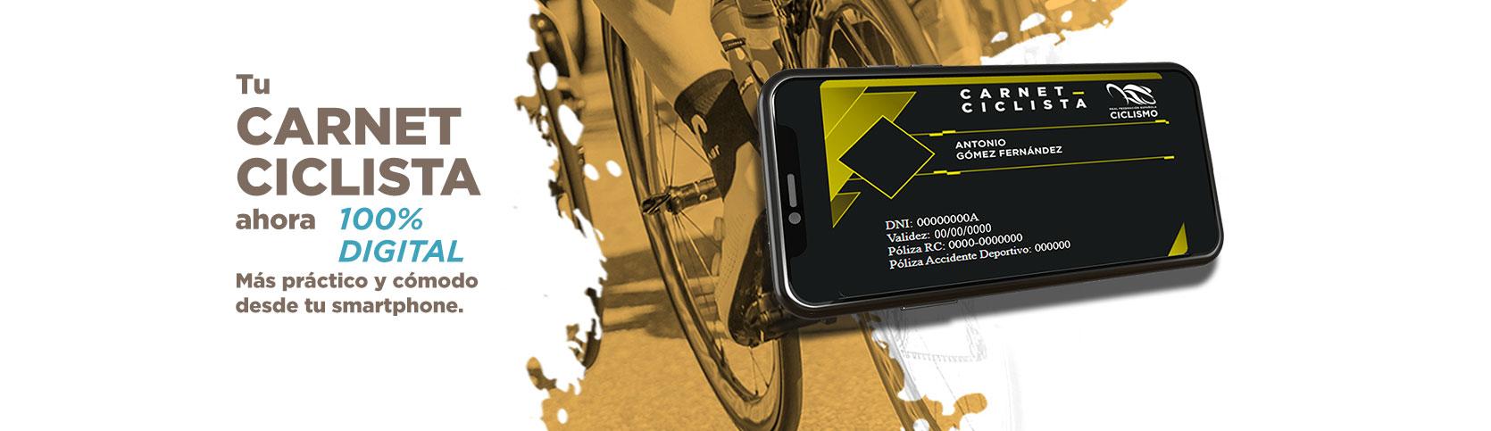 Tu Carnet Ciclista ahora 100% digital.