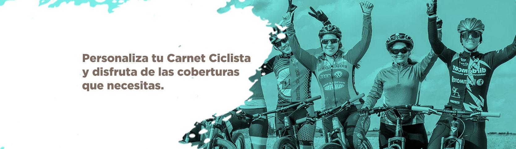 Personaliza tu Carnet Ciclista.