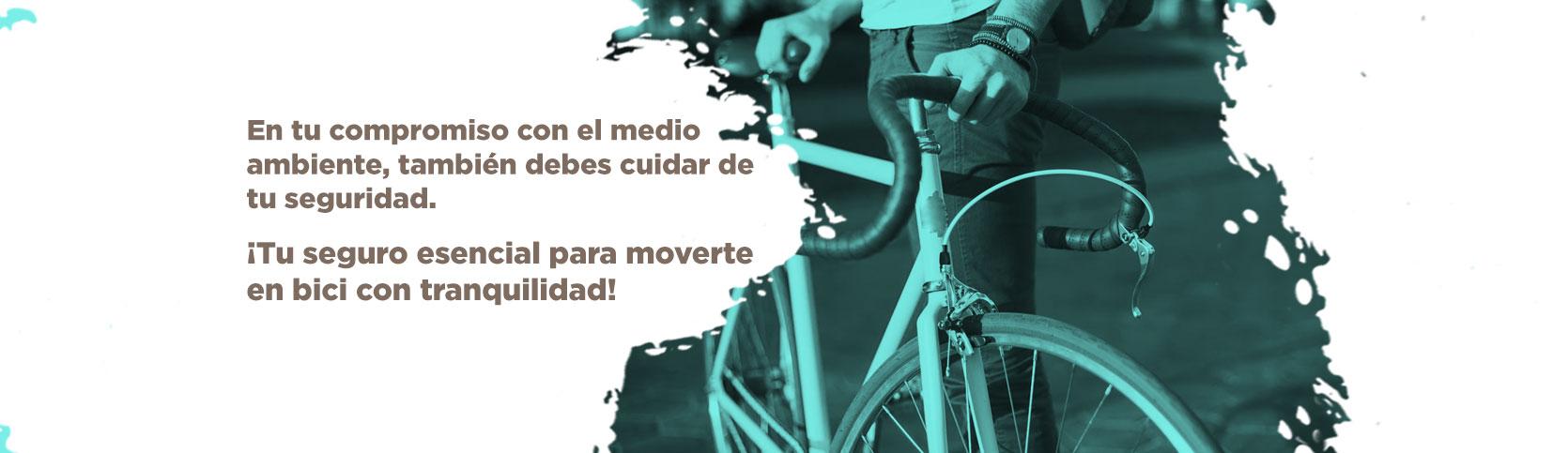 Tu seguro esencial para moverte en bici.